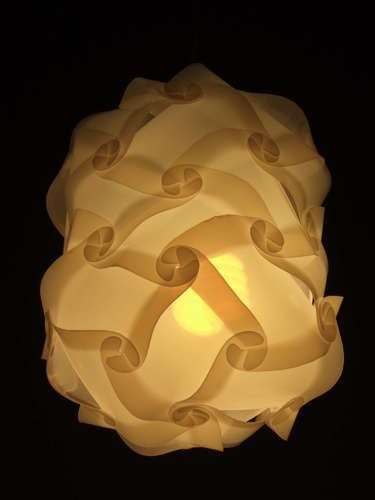 Светильник из листа пластика