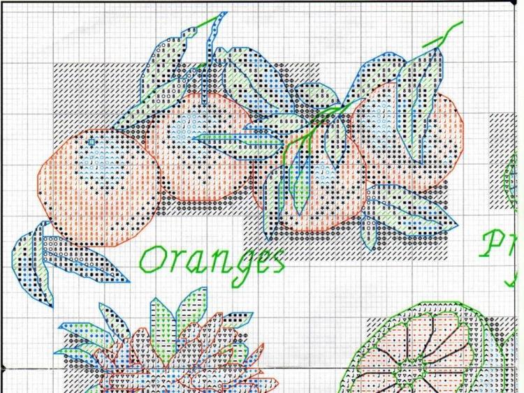Апельсин вышивка крестом схемы 51