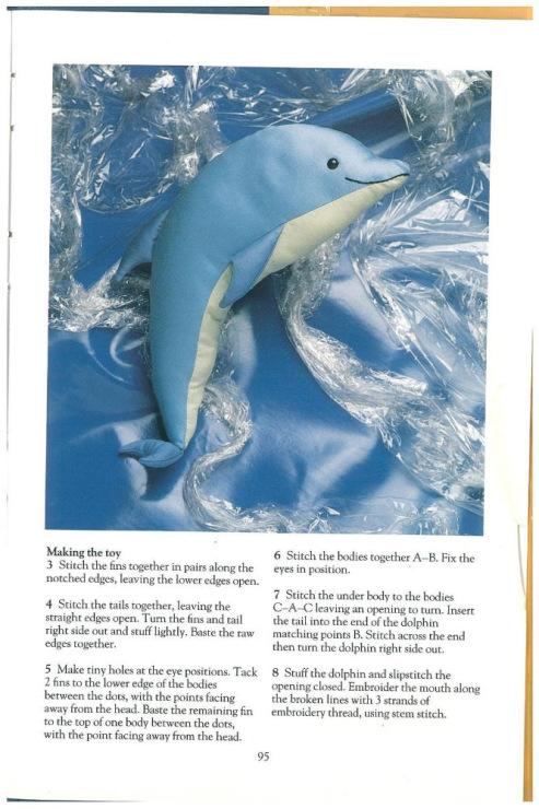 Сшить мягкую игрушку дельфина 54