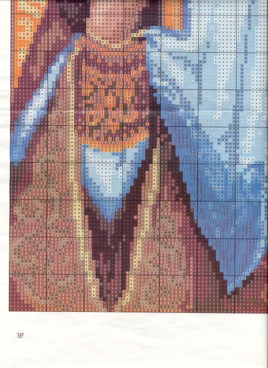Икона александр схема вышивки крестом