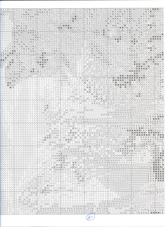 Встреча в лесу схема вышивки 98