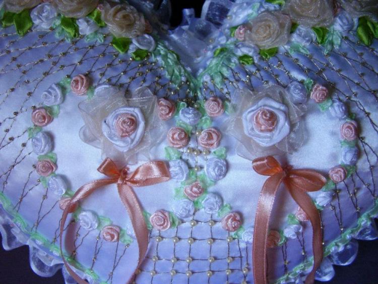 Вышивка лентами для свадьбы 53