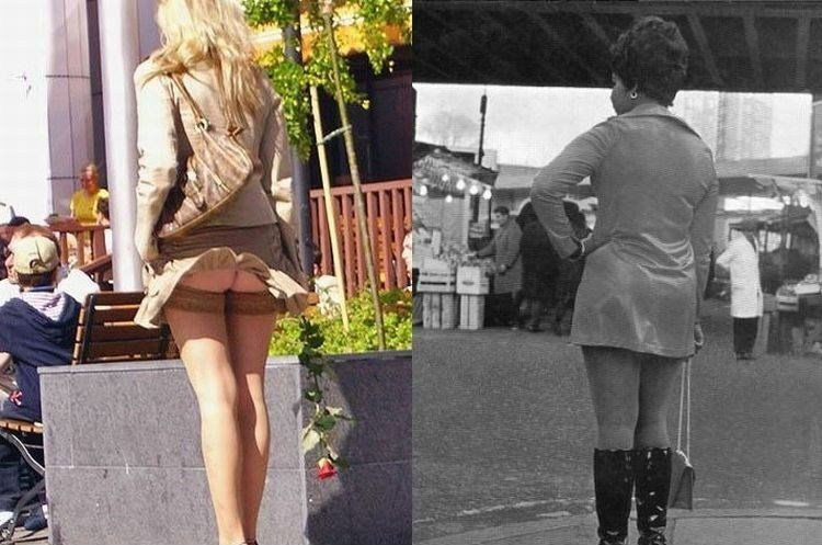 фото девушек задирающих себе юбки