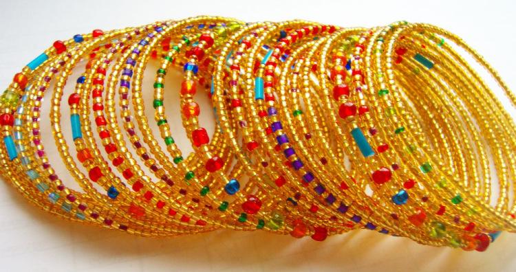 Как сделать индийские браслеты