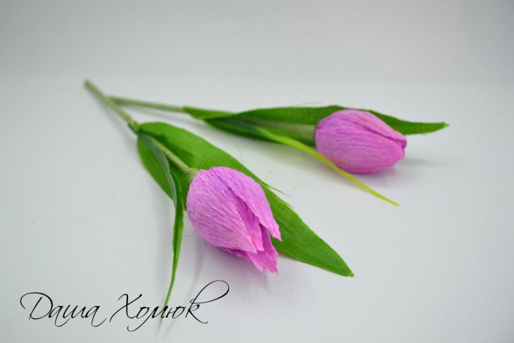 Бумажные тюльпаны мастер класс