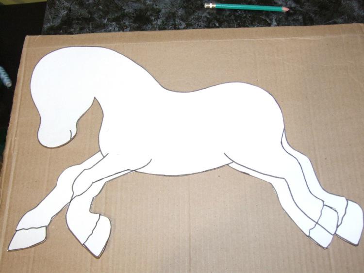 Как сделать по технологии 2 класс лошадку