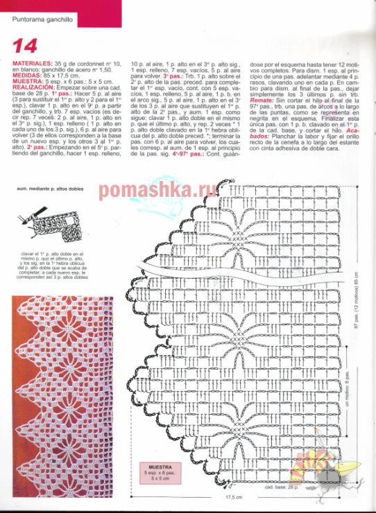 Схема для вязания узора листья спицами схема