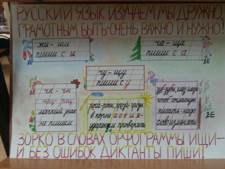 Плакат по русскому языку своими руками 1093