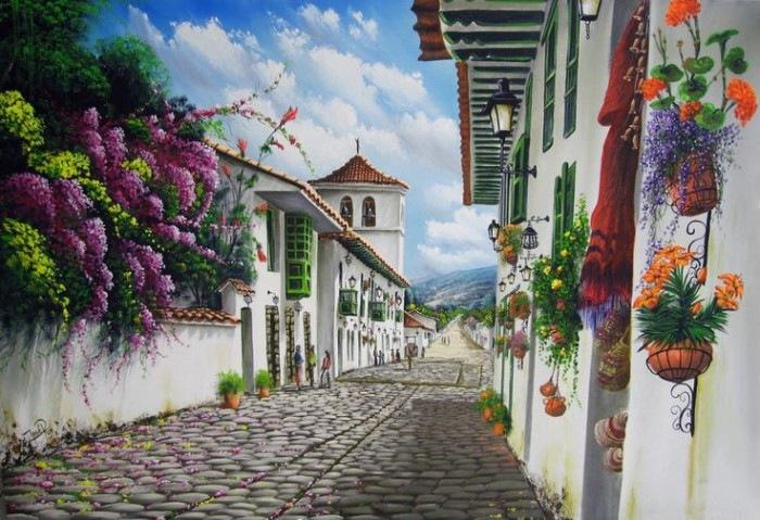 Paisajes para pintar cuadros faciles cuadro de paisaje para