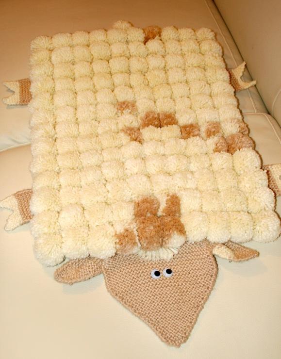 Вязание коврики из помпонов