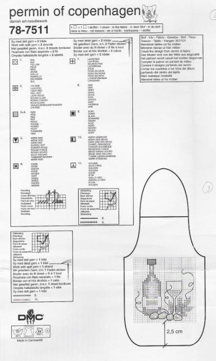 Схемы вышивки для фартуков на бутылки 36