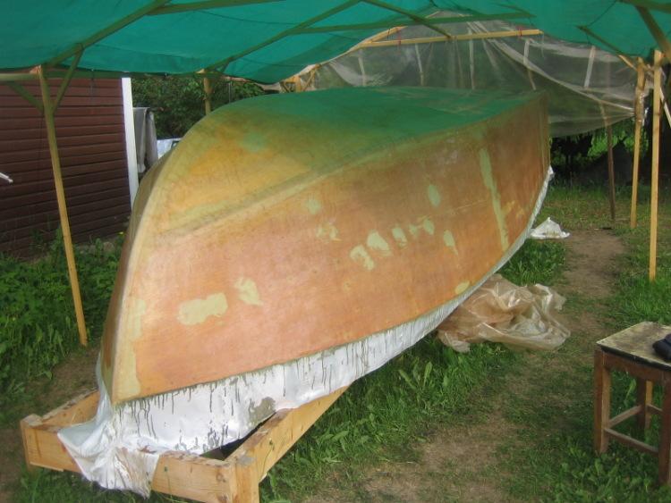 выклеивание лодок