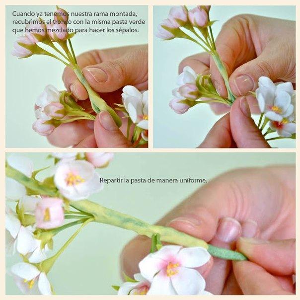 Цветы из холодного фарфора мастер класс с пошаговым