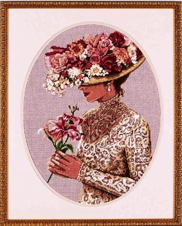 Схема к вышивке бабушкина шляпа